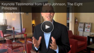 Keynote Testimonial Graphic - Larry Johnson