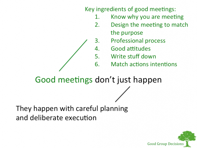 Good Meetings Don't Just Happen - Slide