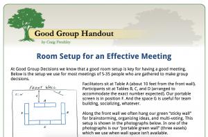 Meeting Room Set Up Screen Shot - 1